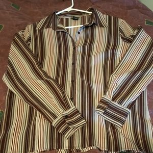 Pinstriped 5th Avenue blouse